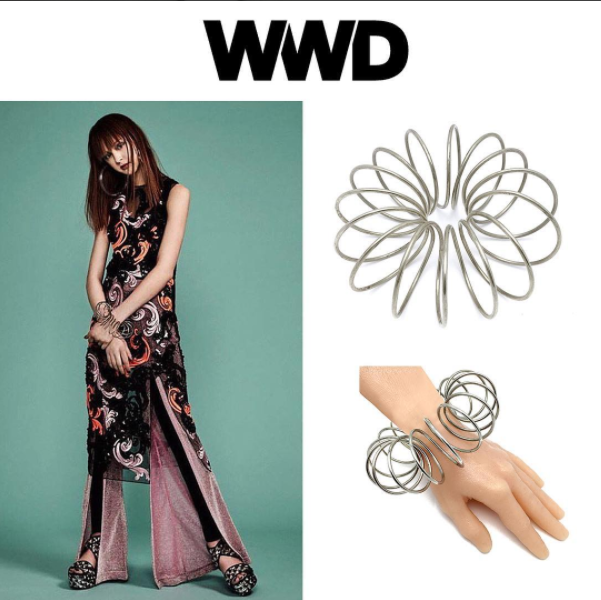 The SPIROGRAPH BANGLE featured in WWD magazine