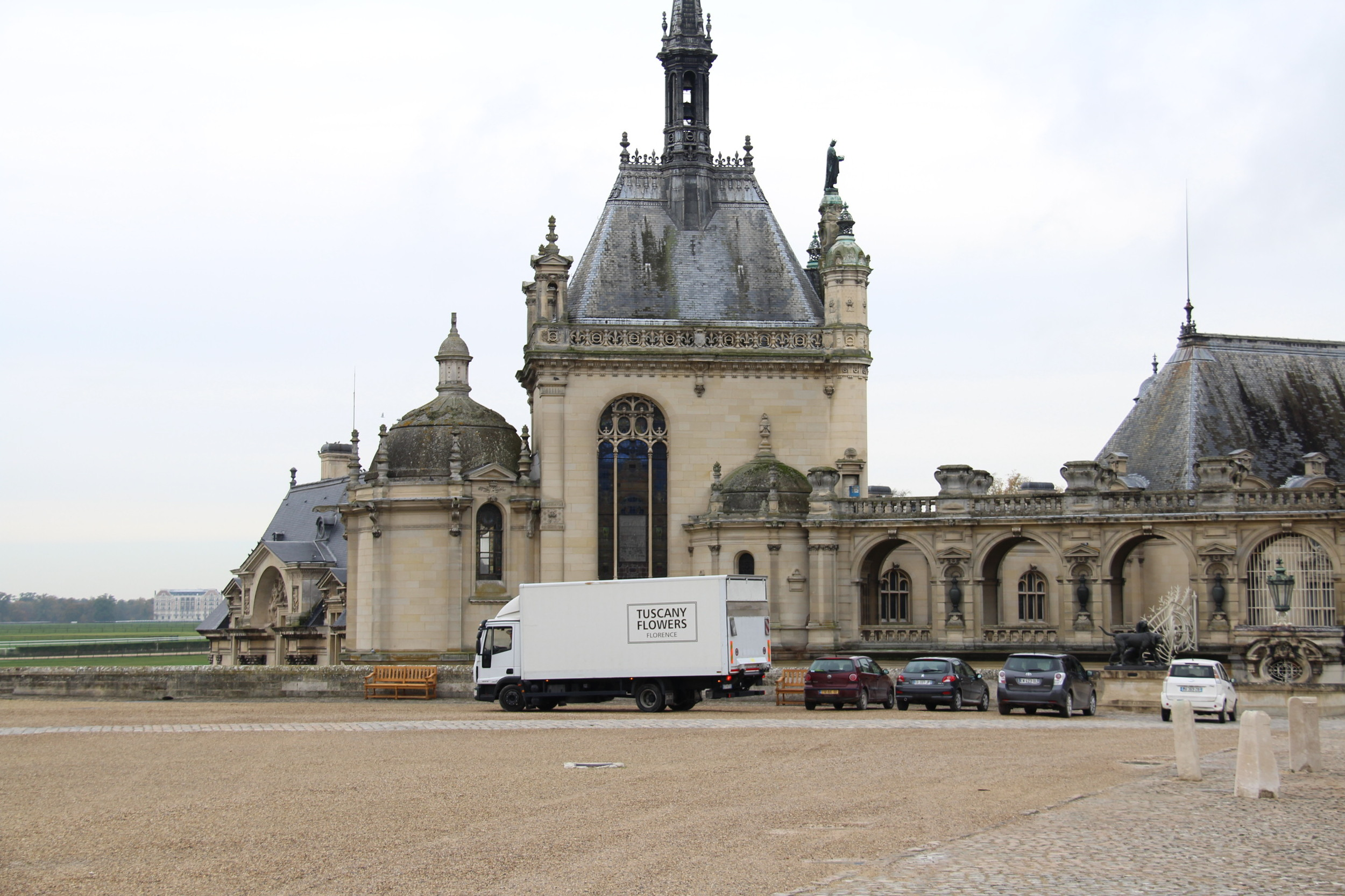 Our arrival at the beautiful Chantilly!