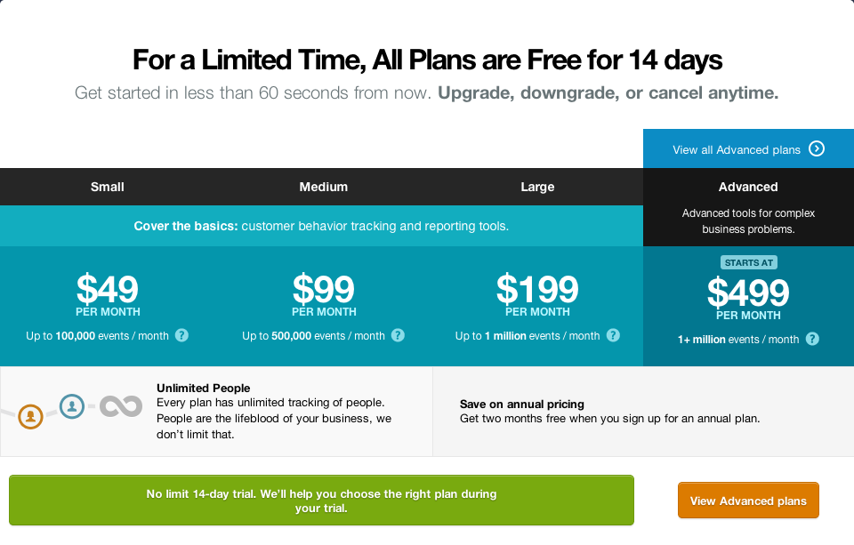 We went from $29 to $49, $79 to $99, and $149 to $199. We also introduced more higher-end enterprise tiers.