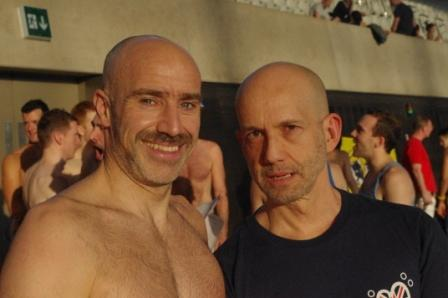 Martin and Peppe.... Peppe swam 200m butterfly and made it look a breeze.