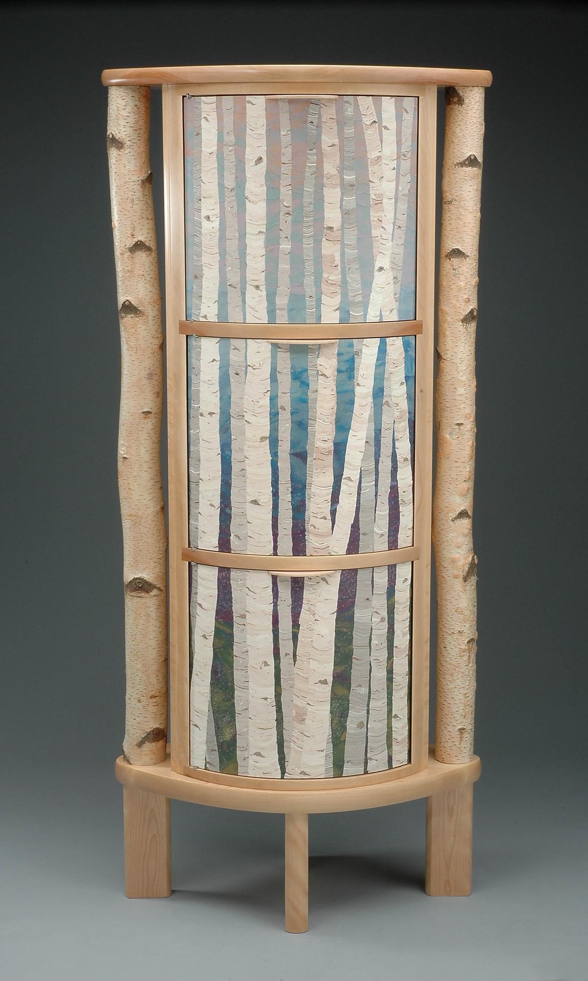 standing birches cabinet