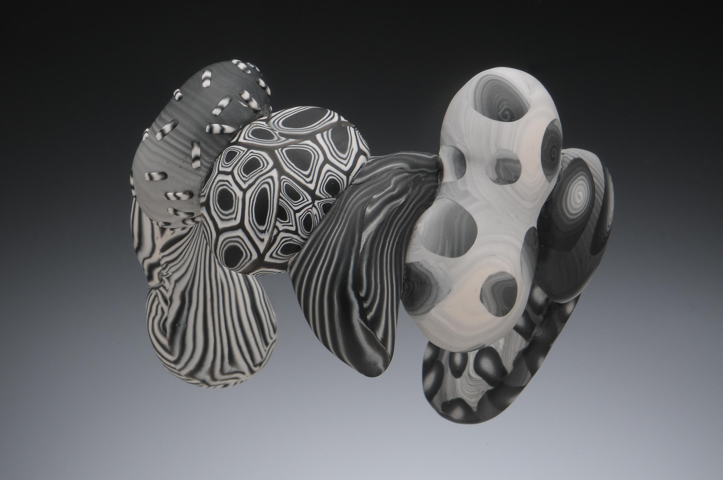 black and white cuff