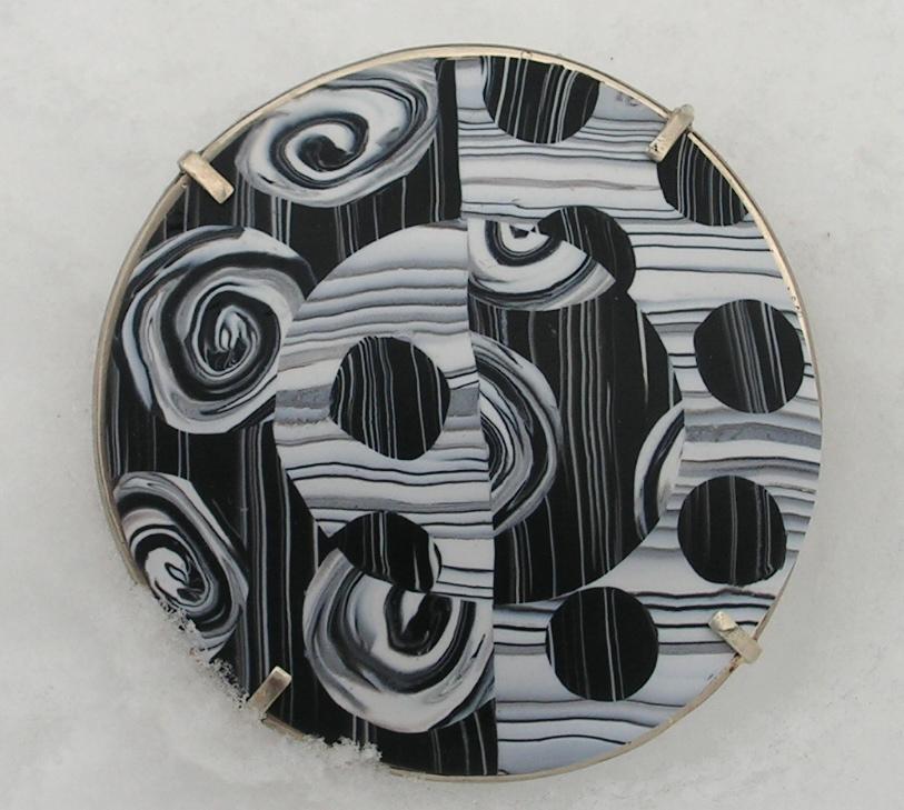 woodcut dome pin