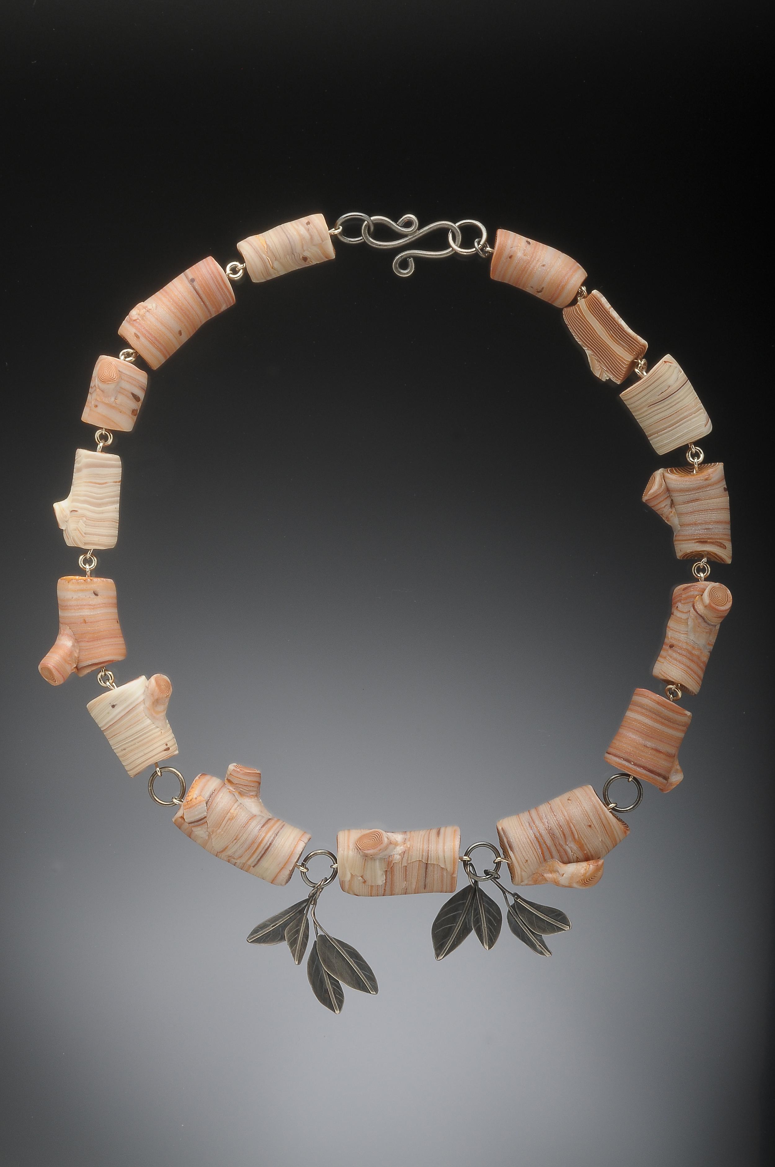 birch log necklace