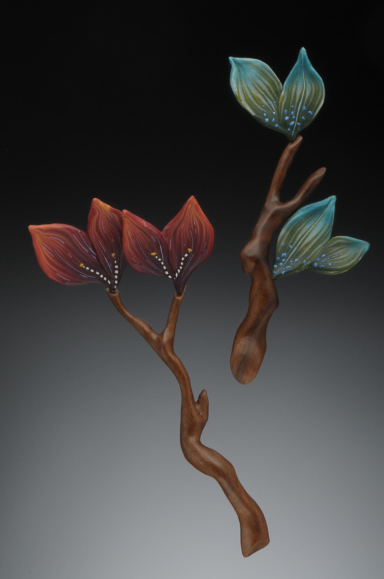bright leaf branch pins