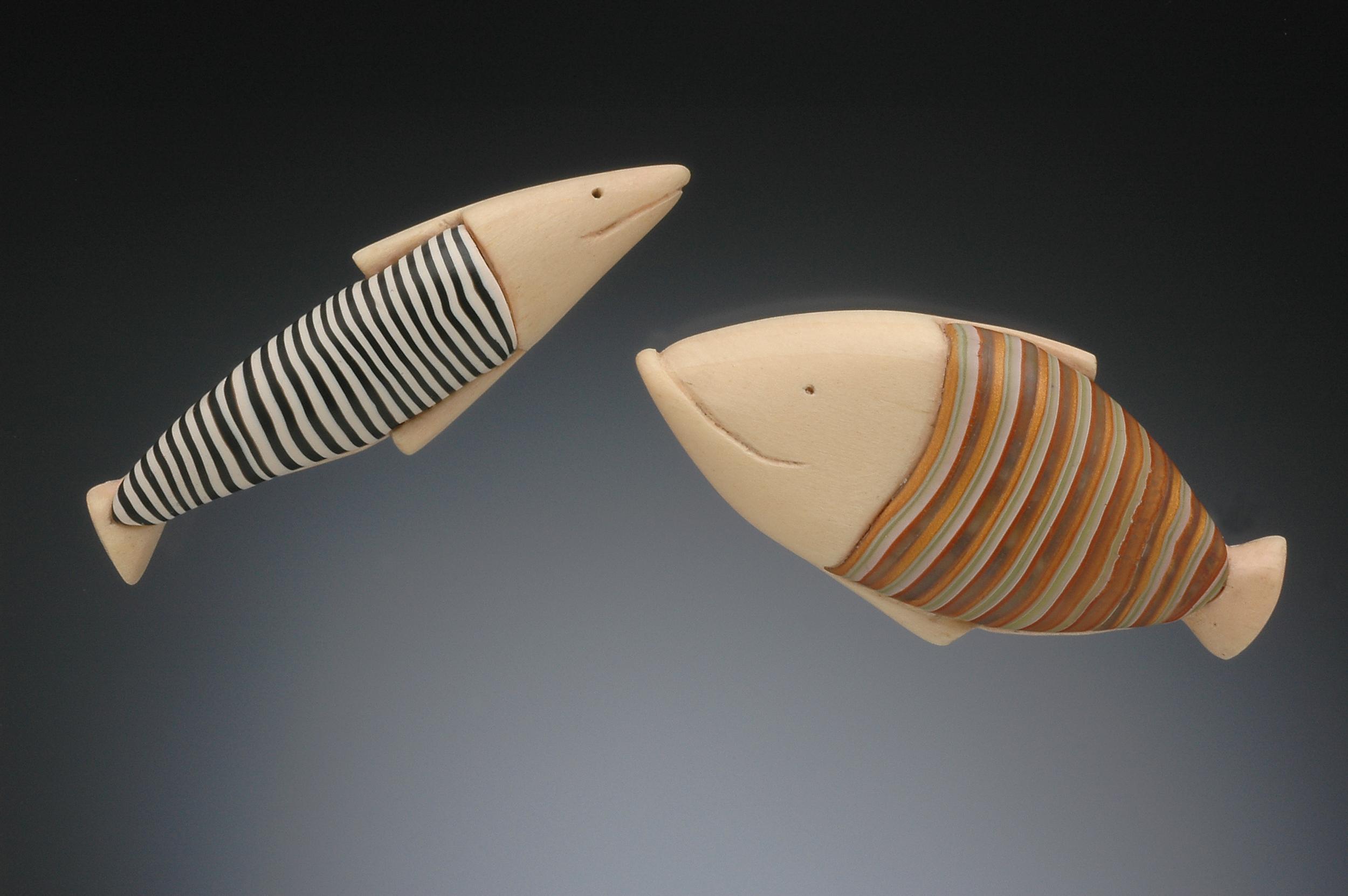 striped fish pins