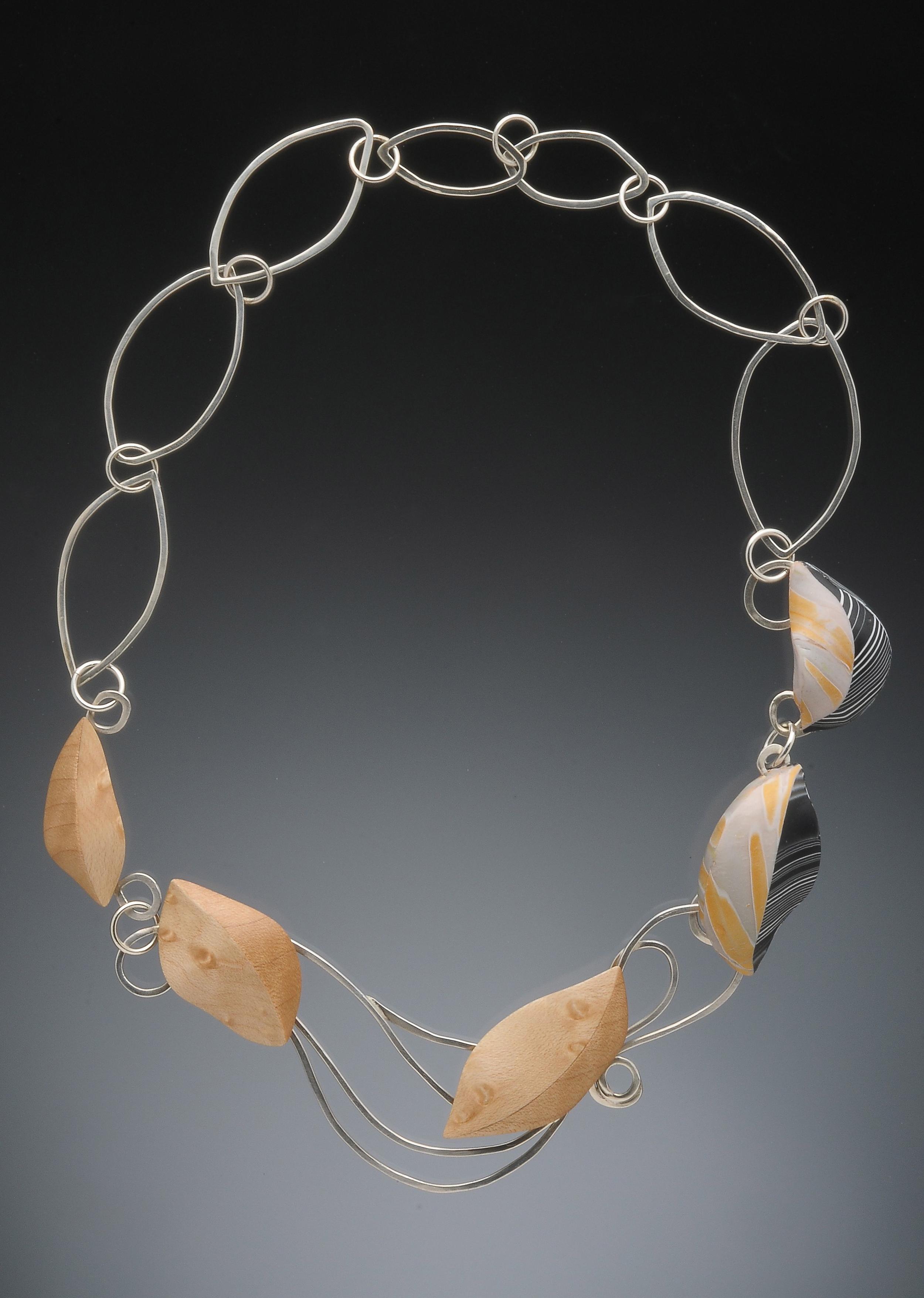 floating leaf necklace
