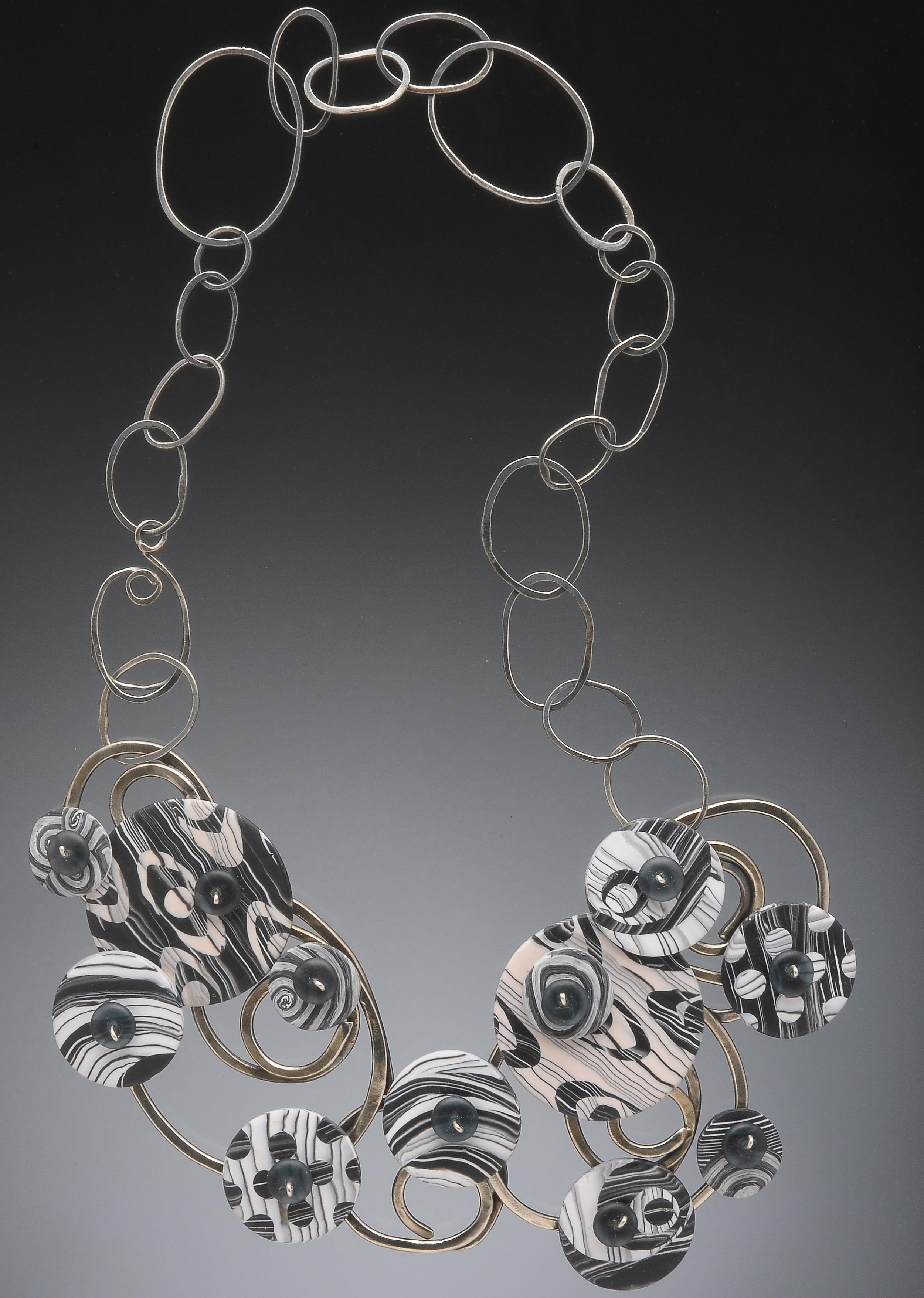 spiral disc necklace