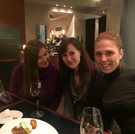 Photo: Sofia, Anna and Helen, 27 November 2015