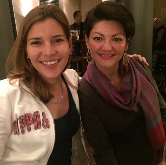 Photo: Melanie and Marina, 27 November 2015