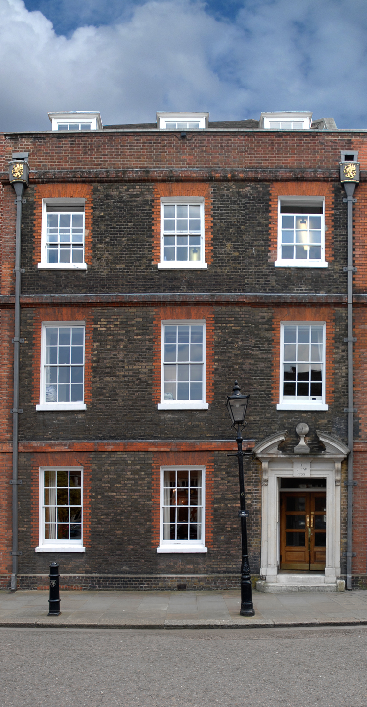 Charles Dickens' house in South Square (Pickwick Papers was written here).