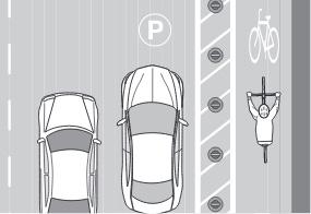 Barrier Protected Bike Lane