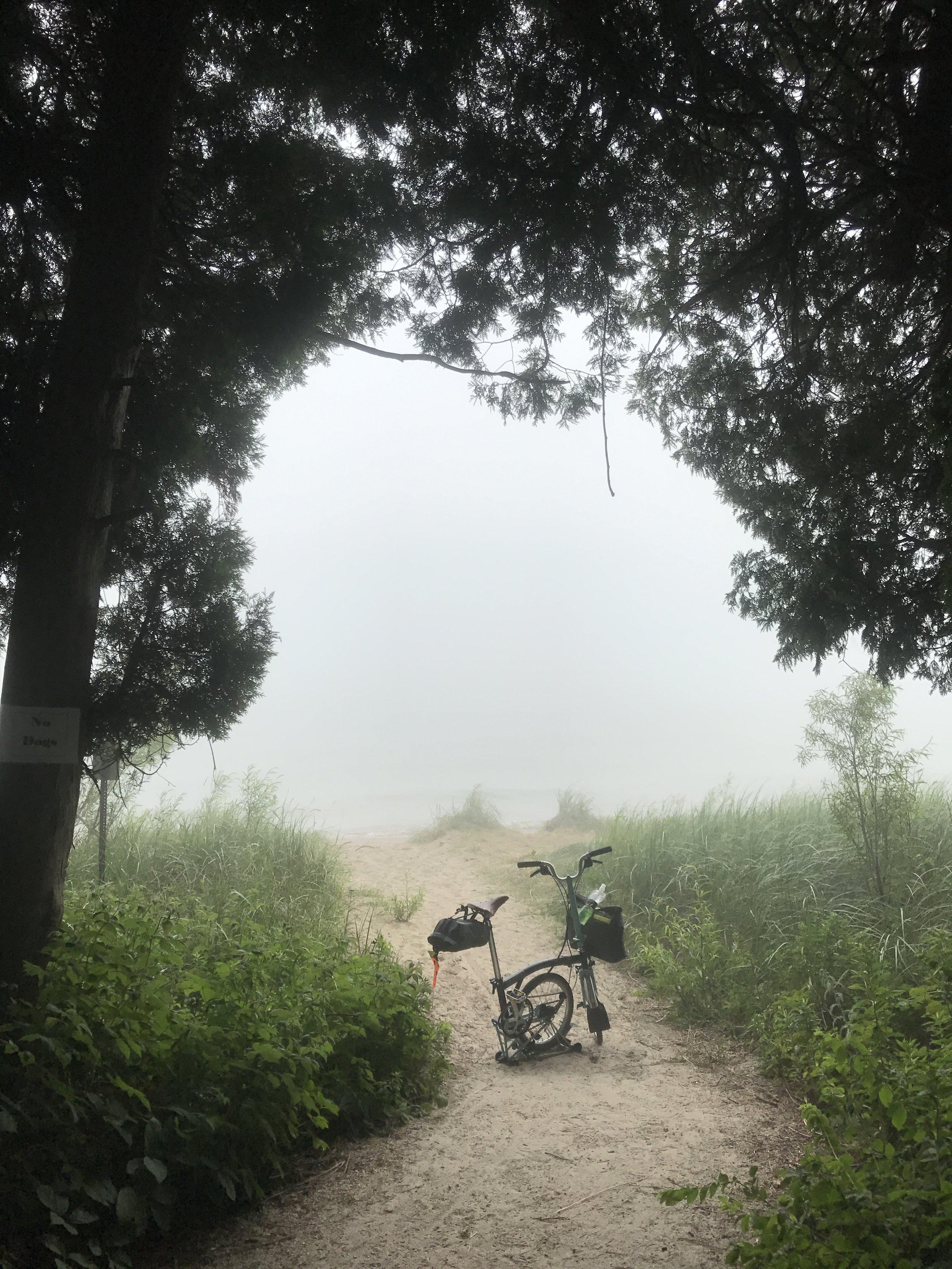 Misty embrace of Lake Michigan!…
