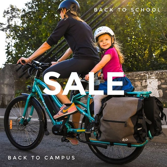 BACK TO SCHOOL SALE is on! Whether you're the chauffeur carting your little ones to preschool or kindergarten, or sending your newly-minted adult off to college, we have some great back-to-school specials for you. Link in profile will take you to the details.  @yubabicycles  #cargobike  #backtoschool