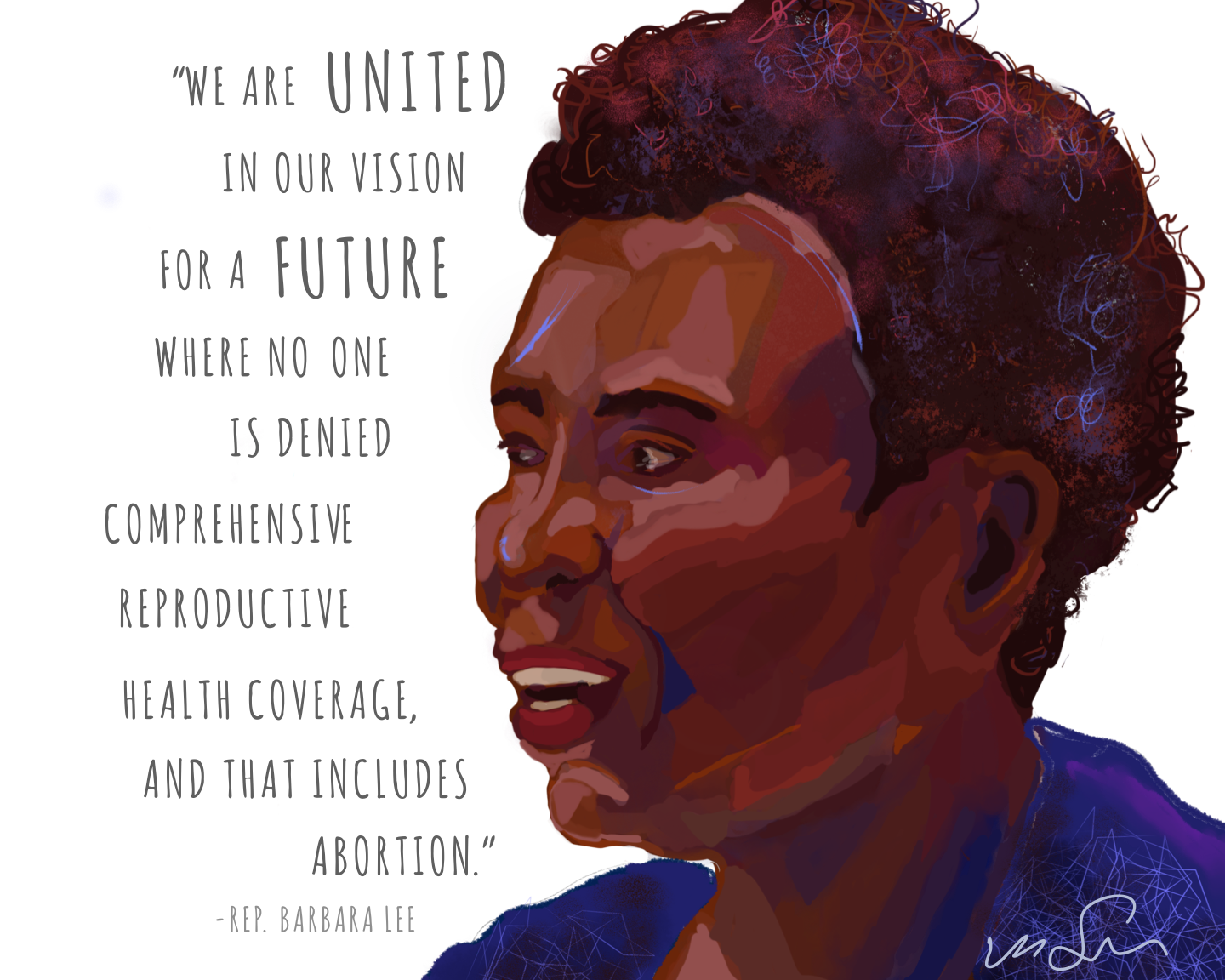 Image created for All Above All to celebrate Rep. Barbara Lee
