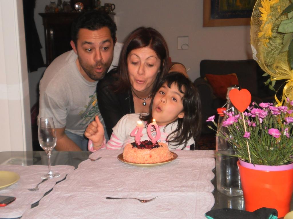 I miei primi quarant'anni, con la mia famiglia