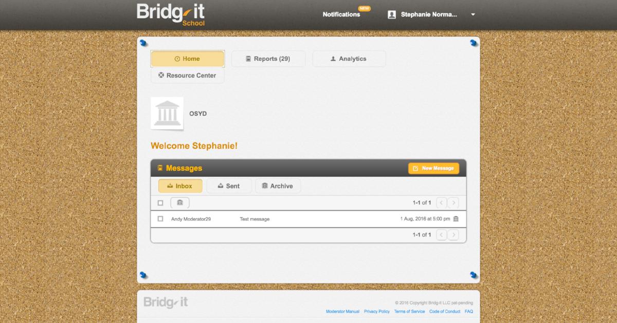 Original site home page (2014)