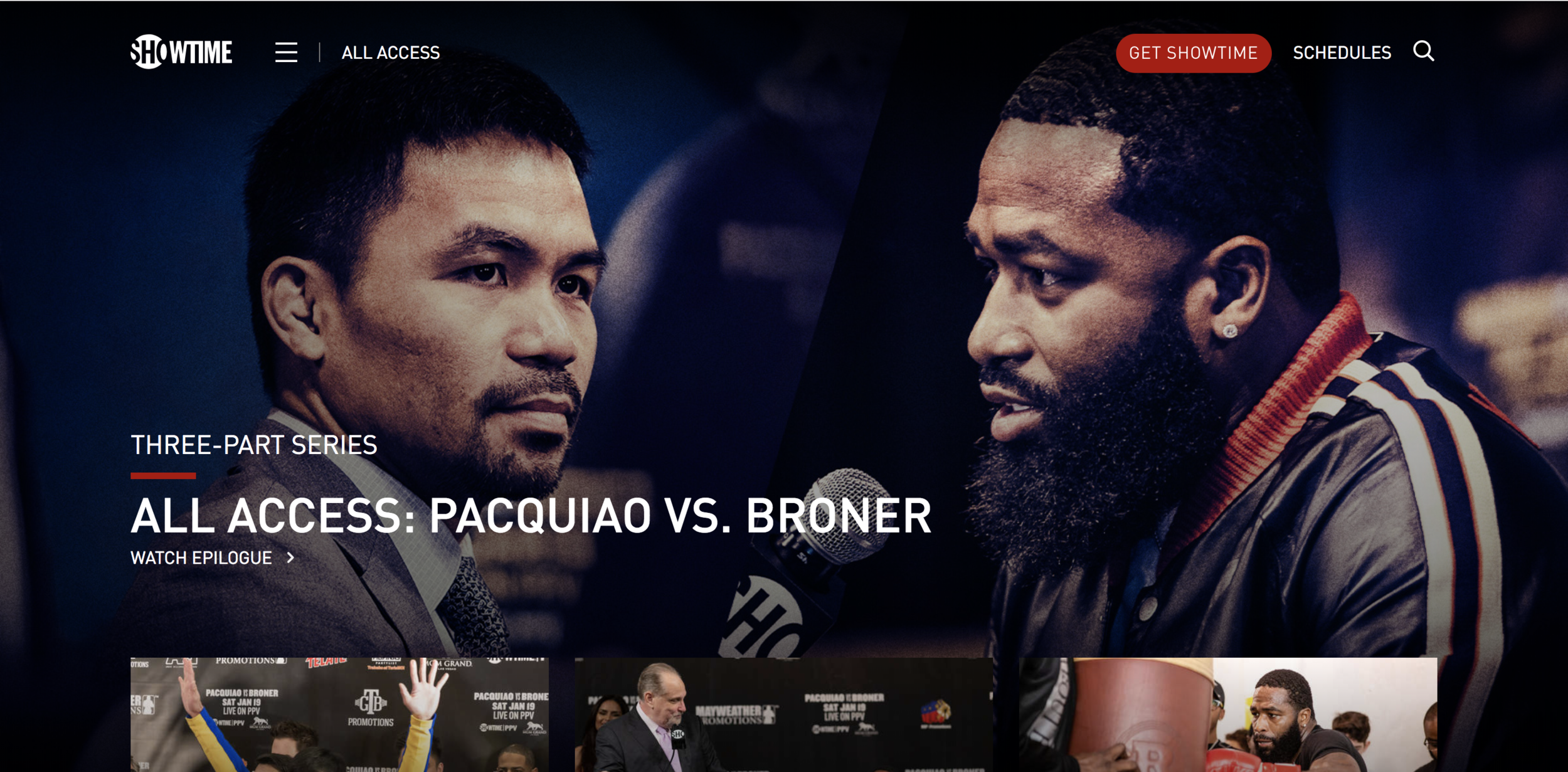 Hero image for All Access: Pacquiao vs. Broner featured on Sho.com