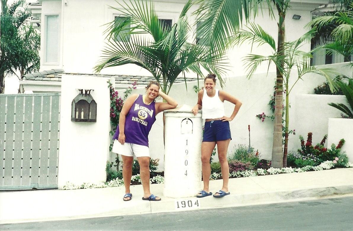 Ana & Holly at Junior Seau's house