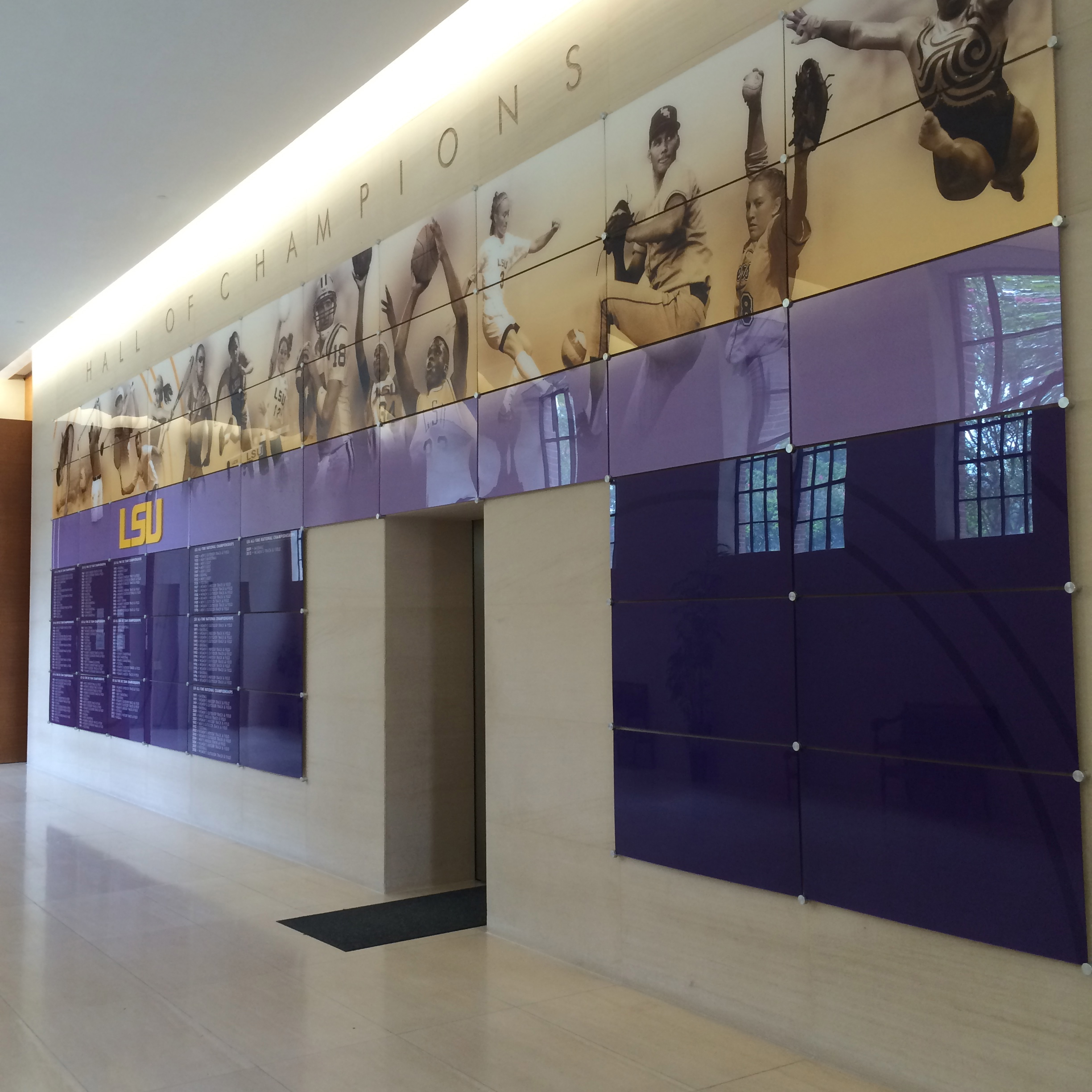 LSU's Hall of Champions in the Cox Communications Academic Center for Student-Athletes