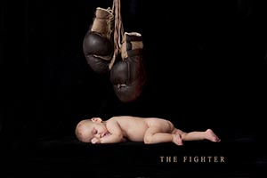 """Symbolic of our son, the fighter, born at 1.6lbs.""  - Melanie and Peter"