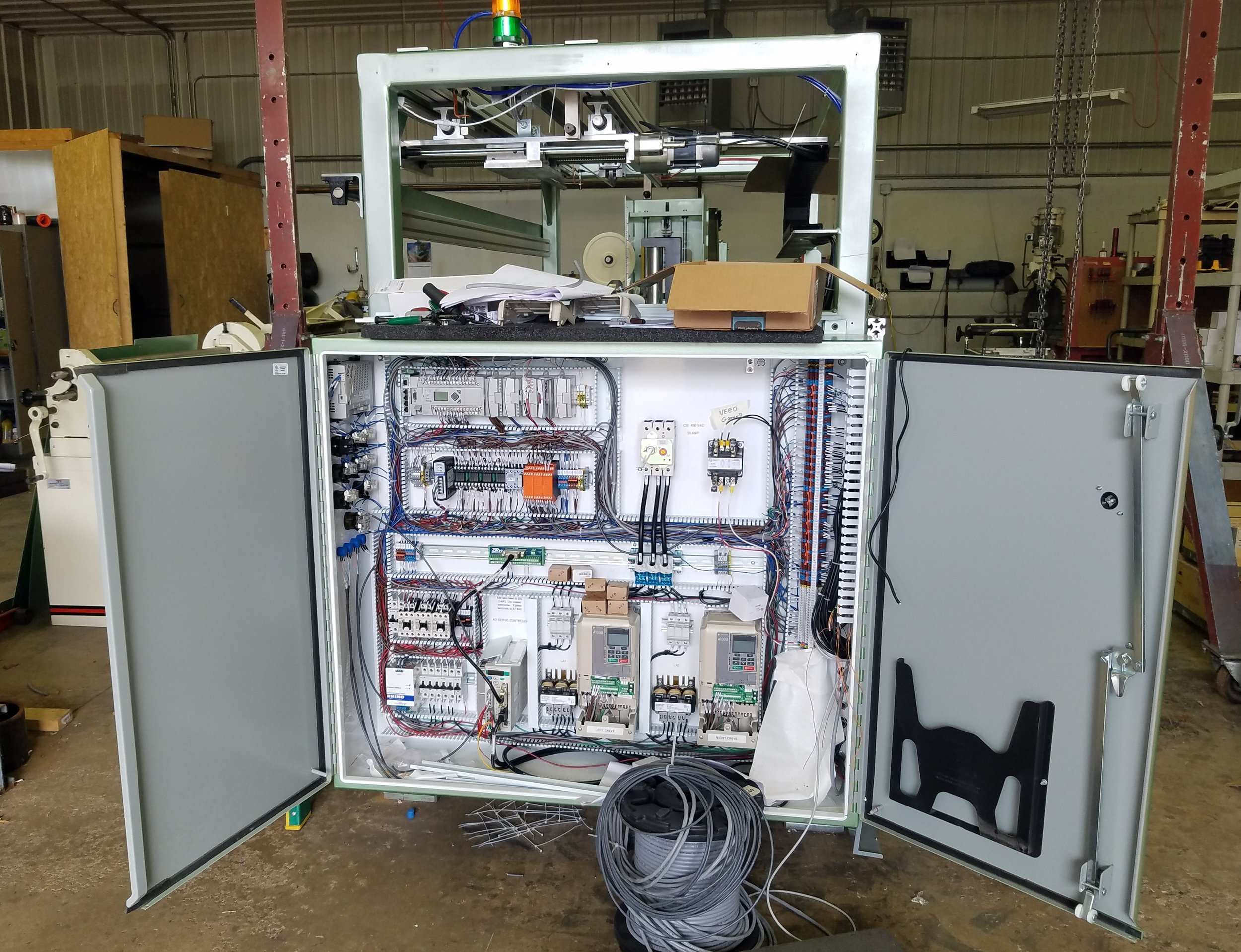 Control Panel for Wire Spooler