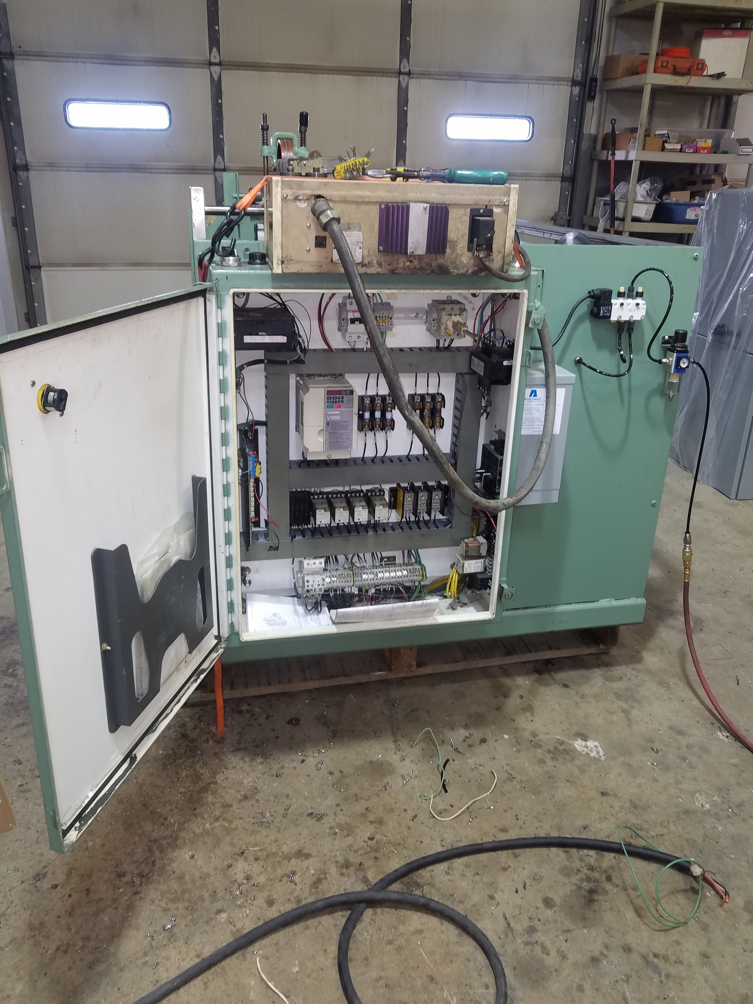Wire Rewind Machine After Modification