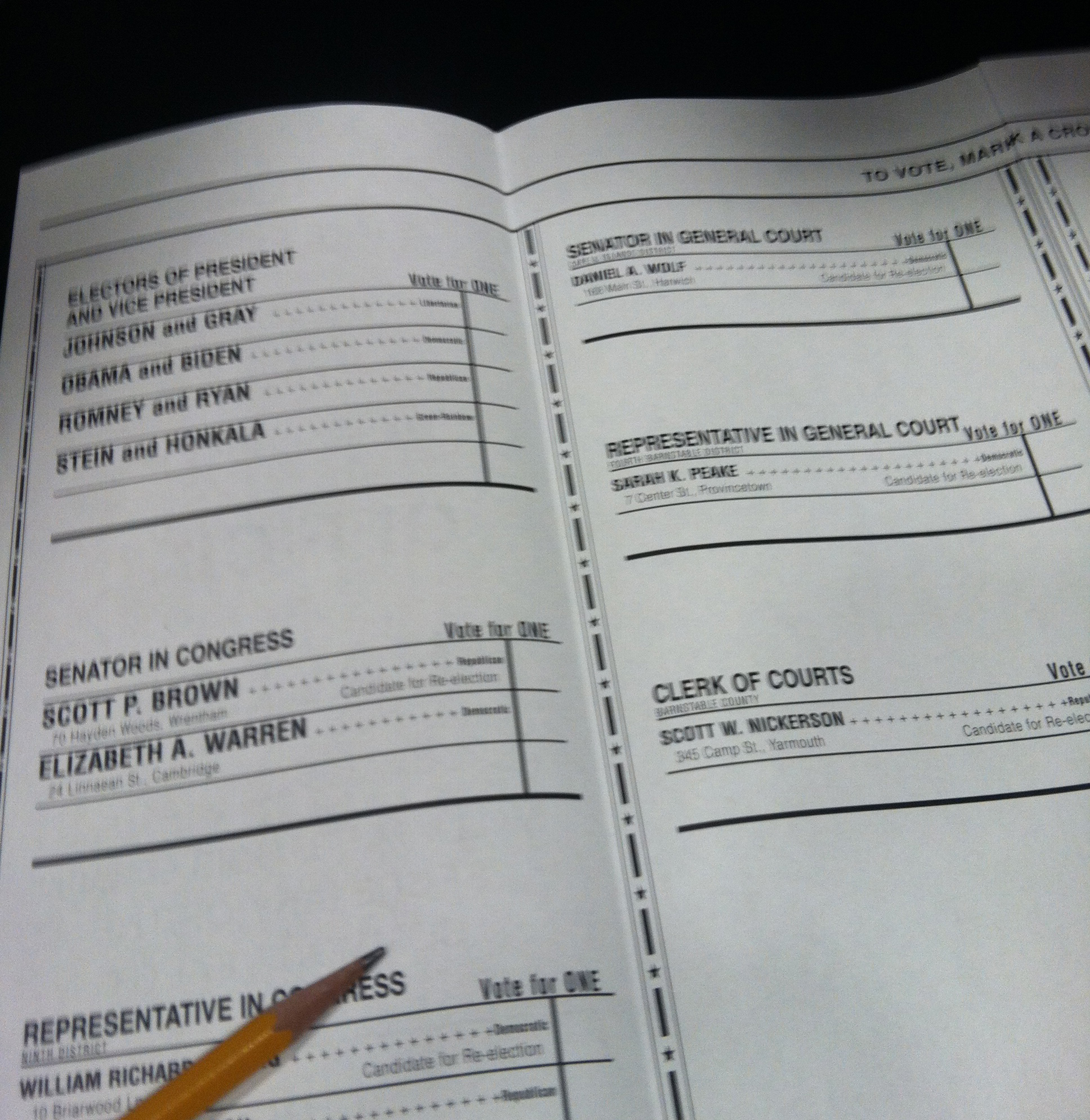 Massachusetts ballot