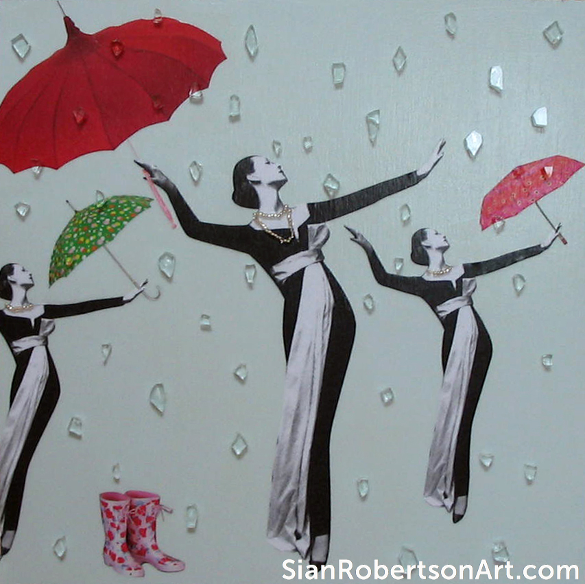 It Rained Almost Every Day in June (2009), sold at PAAM 12x12 summer 2009