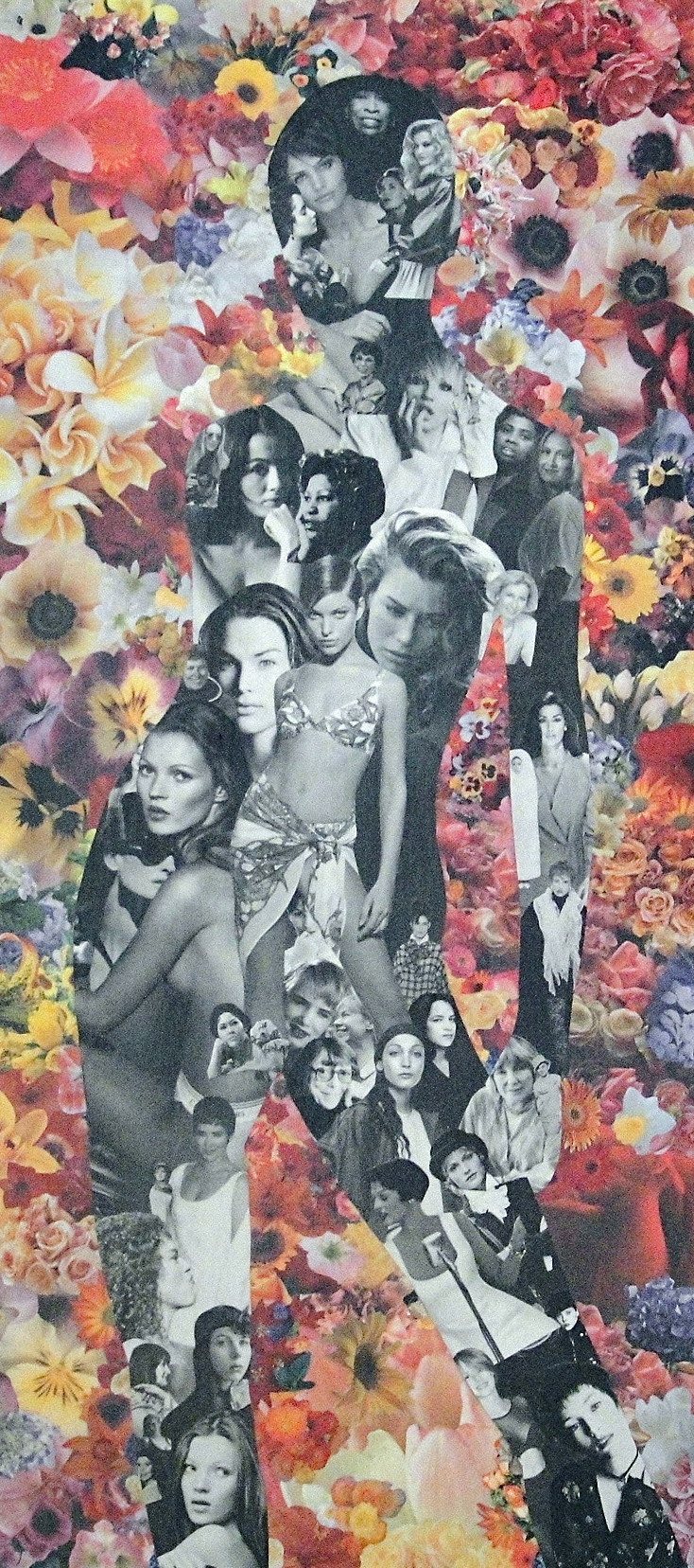 Collage of a female figure made from magazine clippings: It's Okay To Be Girlie (2006)