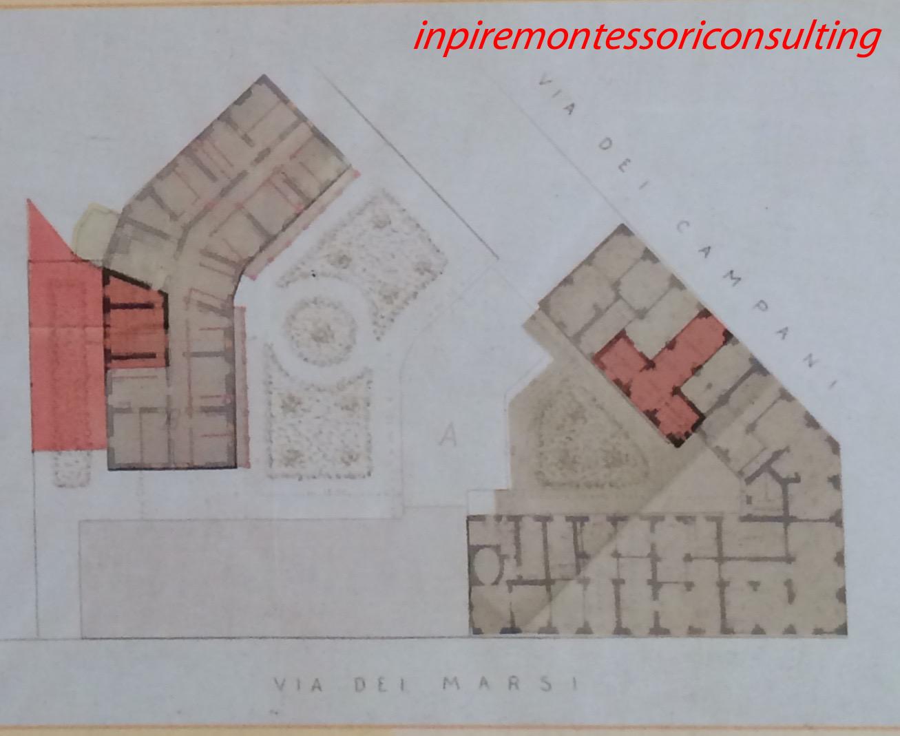 Building plans of Casa dei Bambini.