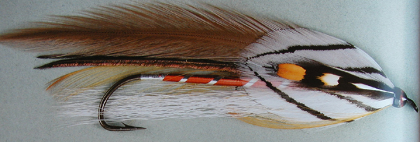 The Gray Ghost fly tied by Carrie Stevens in 1924.