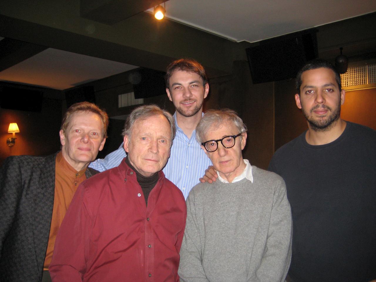 Philippe Petit, Dick Cavett, Woody Allen, and David Blaine