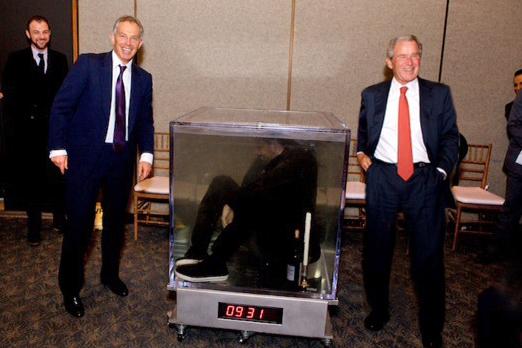 Tony Blair, David Blaine, George Bush