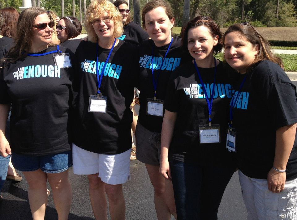 A group of friends & adoptive moms during ACO's (Adoption Council of Ontario) Fun Walk