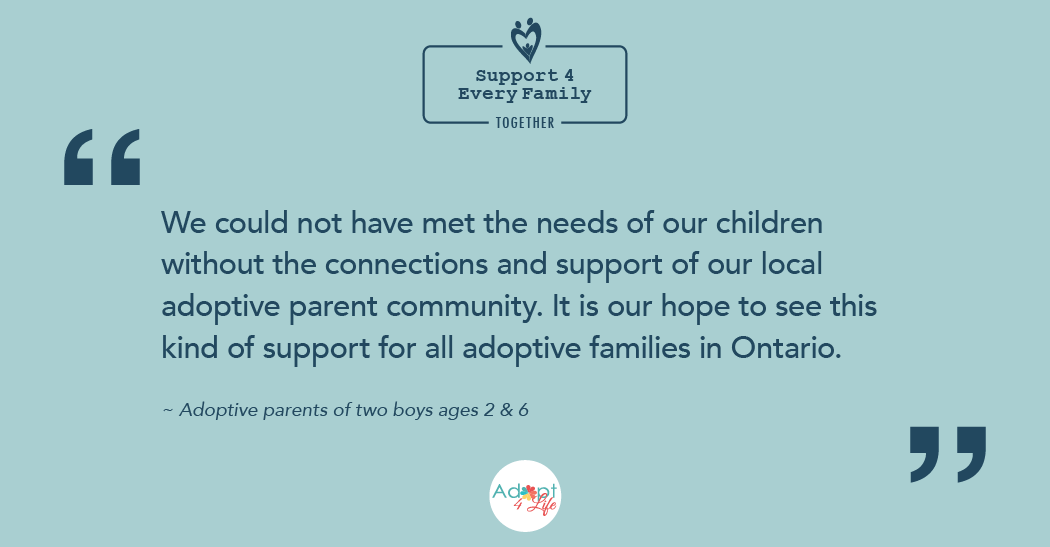 ~ Adoptive parents of two boys ages 2 & 6