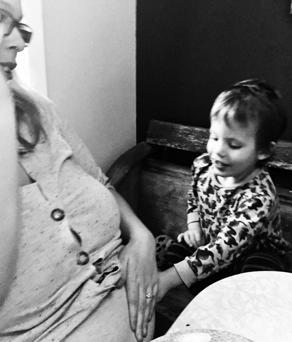 My twins visiting one of their bio grandmas  — Sarah