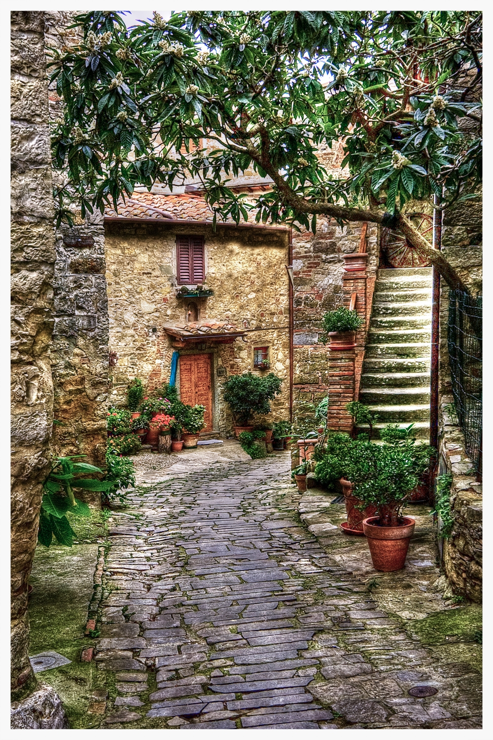 Montefioralle Italy Alleyway