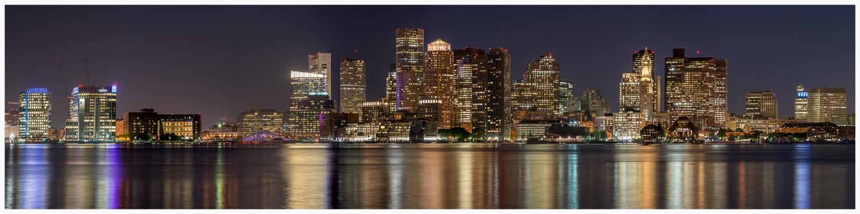 Boston Nighttime Skyline - 08.07.14