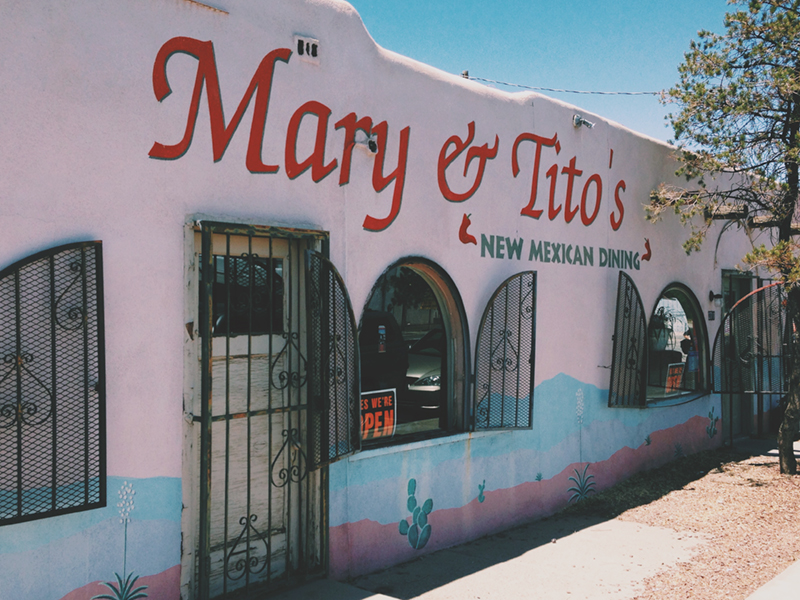"""The first day in Albuquerque Adam and I were jonesing for a meal made by anyone other than ourselves. Mary and Tito seamed like the perfect duo to take care of the job. Little did we know, we were about to eat at the best kept secret by the Albuquerque locals and the unofficially named """"Best New Mexican Food Restaurant""""."""