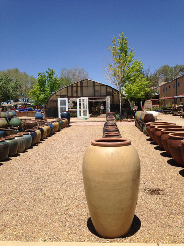 When I own property to park my trailer and portable front porch on one day, I will fill my yard with ceramic pots like these.