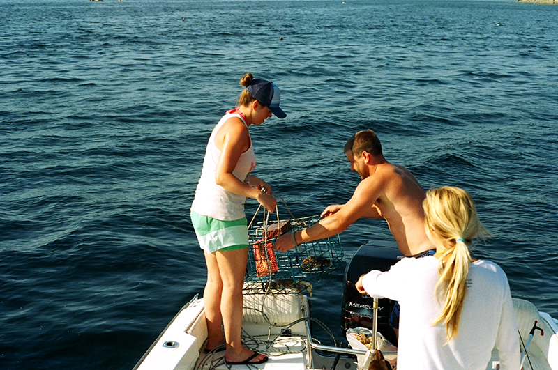 We got the full experience by limiting on crabs every night that we went out. It was so rad to watch these two work together on the water, as if they had been married 30 years. Kelsey is always the boat captain leading them to where they dropped the pots, while Robert pulls all the pinching crabs from the pot and splits them when they get to shore.