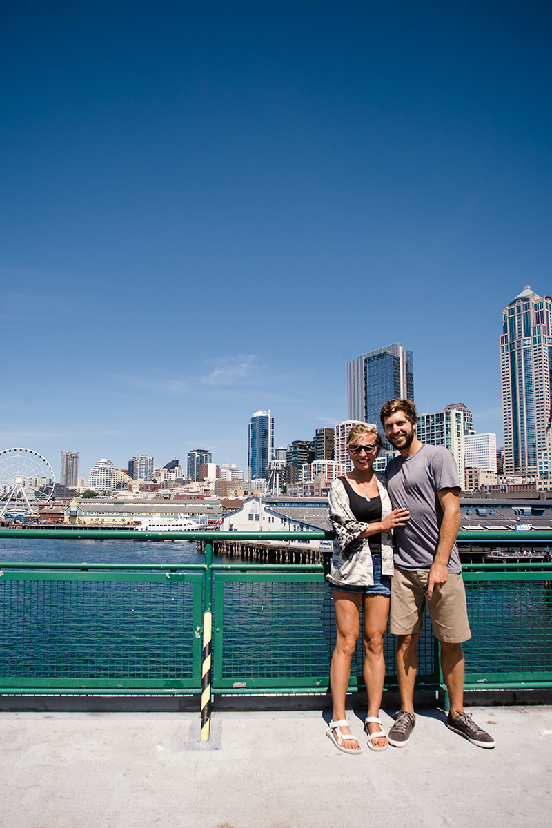 If the weather is desirable in Seattle take the ferry to Bainbridge Island! It is in an incredible way to see the Seattle cityscape, Mt. Rainer, and all the wildlife of the Puget Sound from a giant boat that serves beer. Oh, and Bainbridge is a sweet little touristy town!