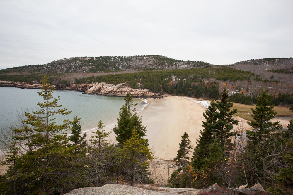After hiking all day, Adam said he wanted to go for one more hike on the ragged cliffs above the ocean. It was so beautiful, we could see all of the islands, snowy beaches and natural harbors from up above.