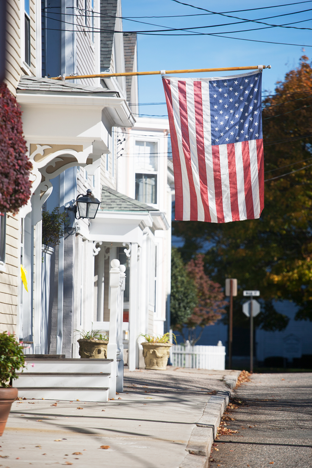 I don't often use the word quaint, only because I feel like it's over used and could be used to  describe any small town form Nantucket to a village in Montana. But, that's the only word I've got for this area. It truly is a place to come slow down, take mid morning walks, admire the early settlement architecture, and take in the slow sea breeze coming off Watch Hill beach.