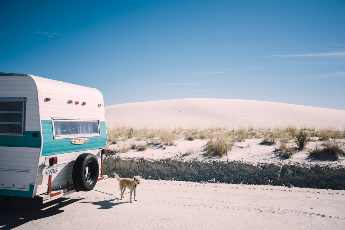 It was a couple days before Christmas when we rolled into White Sands National Park in southern New Mexico. It was the second time in my life that I wouldn't be spending the holidays in snowy Montana and I was feeling a little homesick. Adam was determined to find me a white Christmas, even for one day.