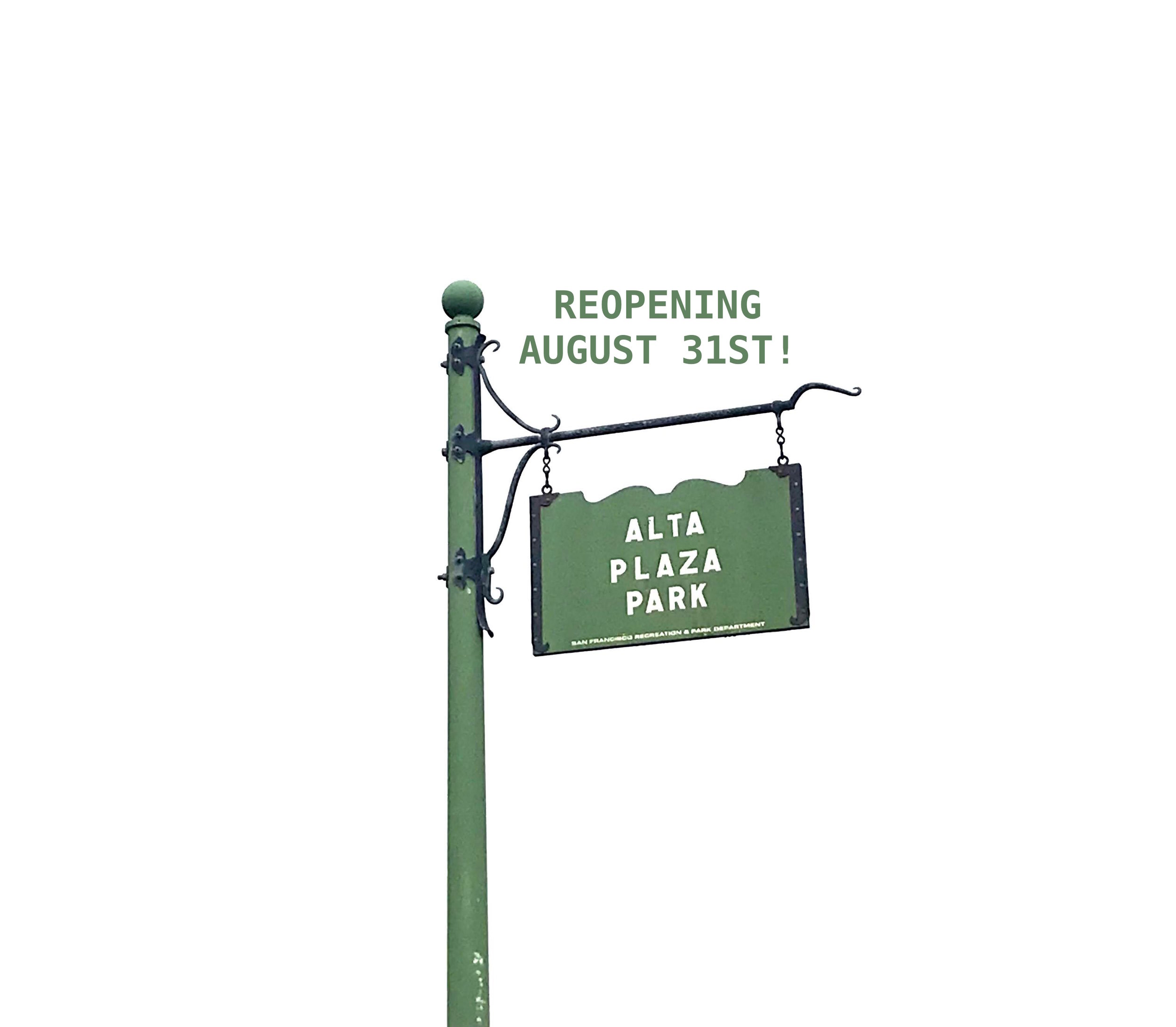 reopening with alta plaza park sign.jpg