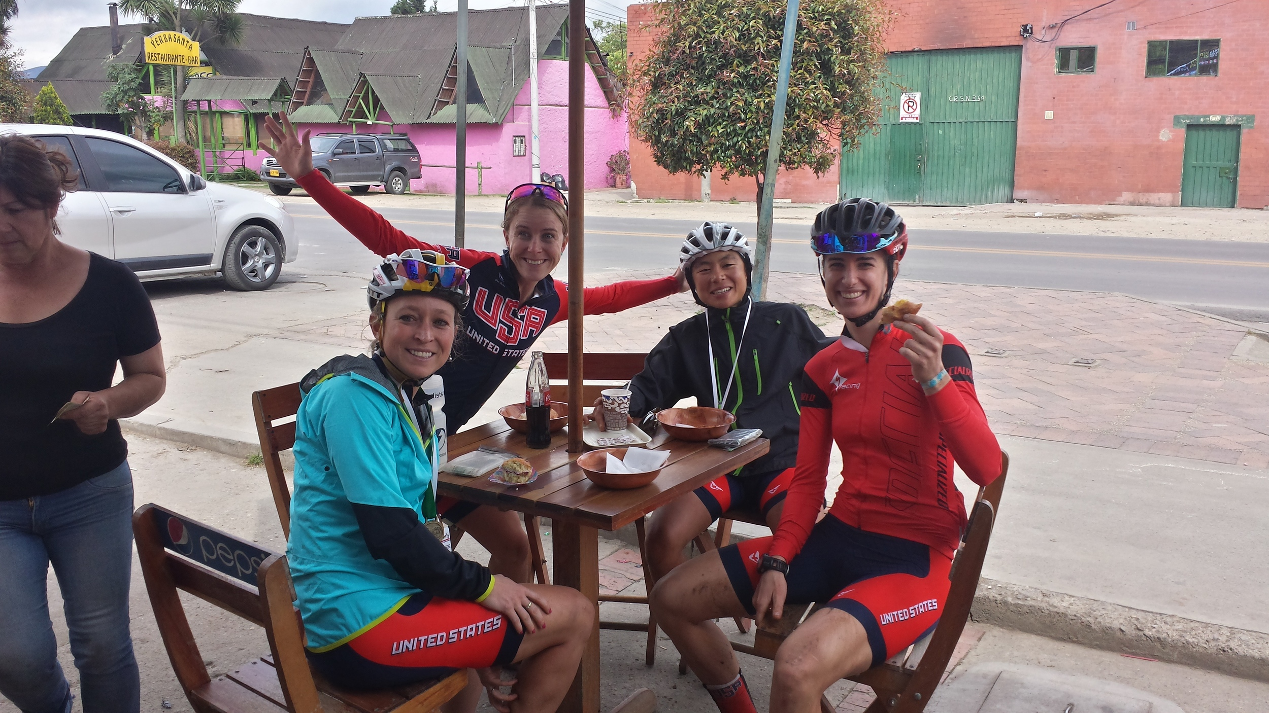Post-race bakery stop.