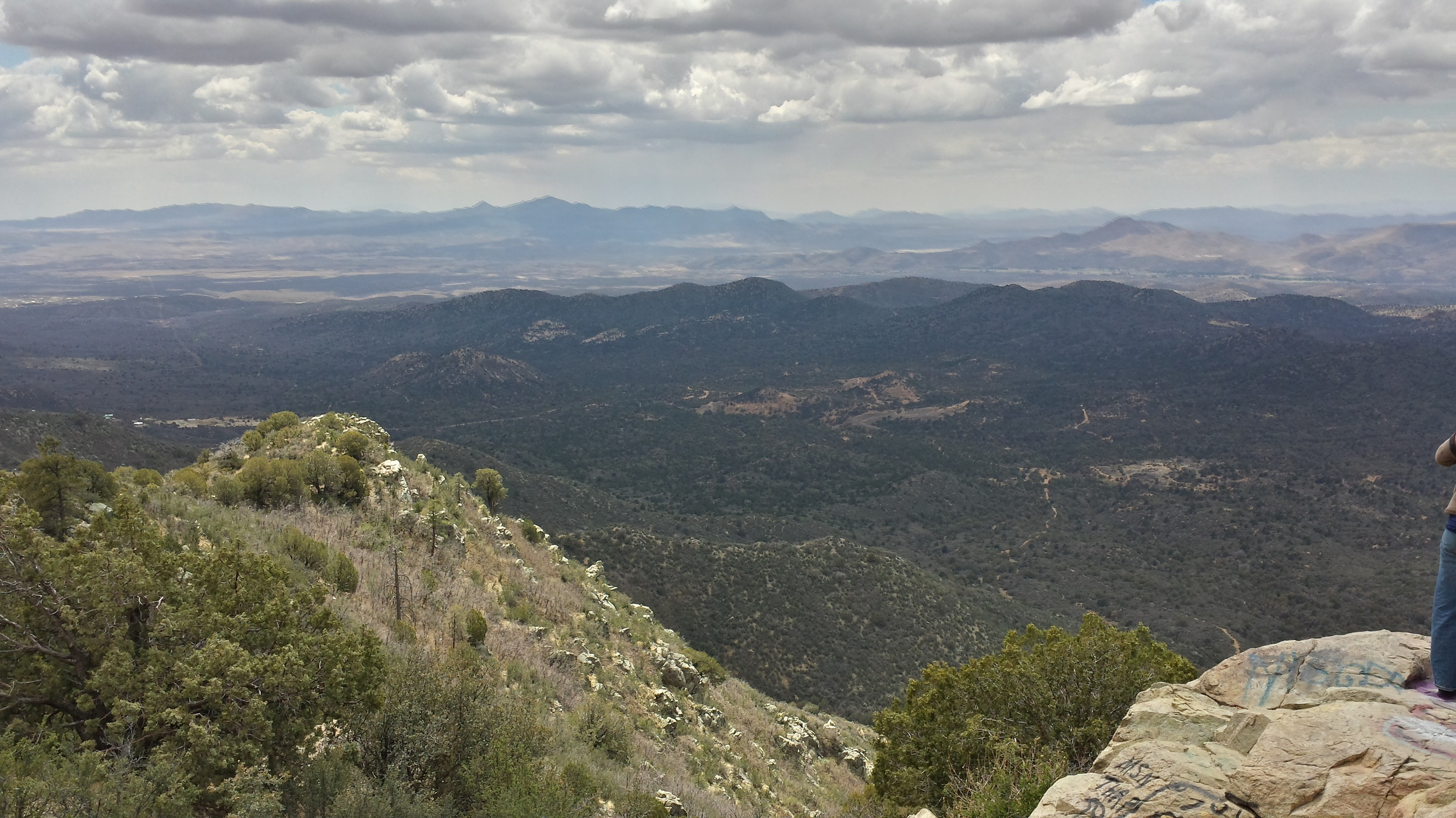 For perspective, here's the view looking down from Sierra Prieta. You can't even see Skull Valley.