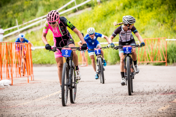 Rose on the attack during short track. I'm classically looking the wrong way in this shot. Photo: PB Creative